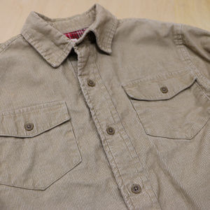 Canyon River Blues Shirts & Tops - Boys CRB 10/12 Corduroy Tan Long Sleeve Button up